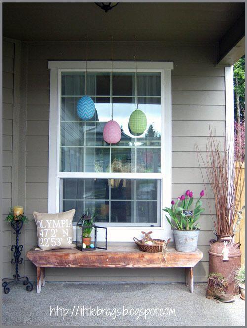 Spring Decorating Ideas In 2019 Patio Porch Porch Decorating