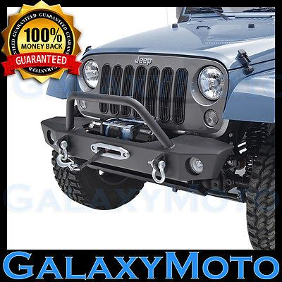JK Front Bumper with OE Fog Light holes & Winch Plate for 07-16 Jeep Wrangler