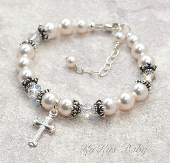 d0a431996b93 Baptism Gift Baptism Bracelet for Boy Christening Gifts Baby Girl Baptism  Bracelet Sterling Silver F