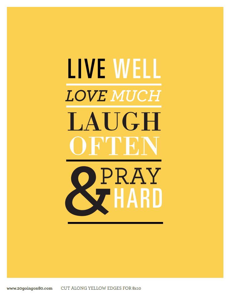 Live_Pray_Laugh_Printable.pdf | Scrap | Pinterest | Scrap