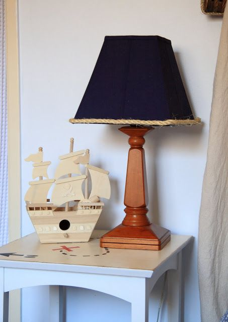 Model Ships And Bold Lampshades Pirate Room Nautical Lamp Shades Kids Rooms Diy