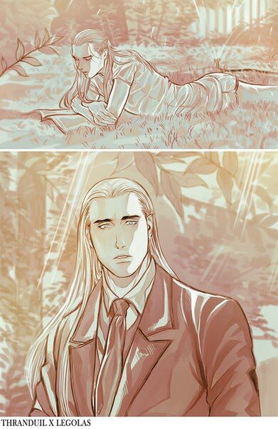 Thranduil and Legolas by Linyuno | The House of Oropher