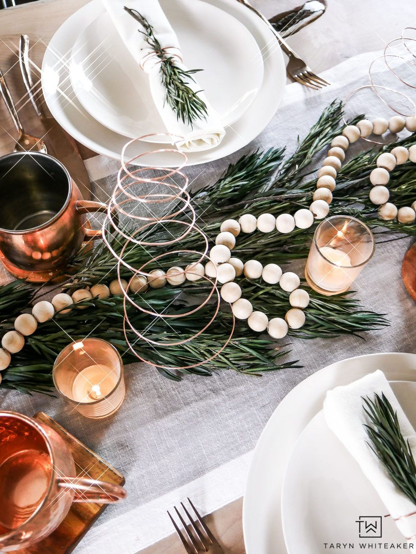 Organic Modern Christmas Table Christmas Table Centerpieces Modern Christmas Decor Easy Christmas Decorations