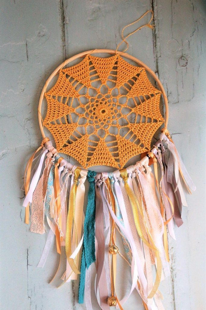 DIY Crochet Hoop Wall Art | Tejido y Decoración