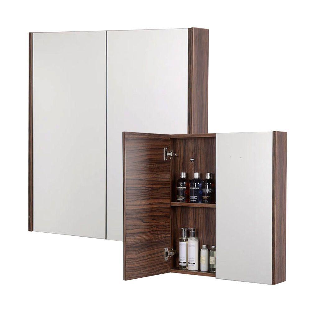 Mirrored Bathroom Cabinet Walnut | house | Pinterest | Mirror ...