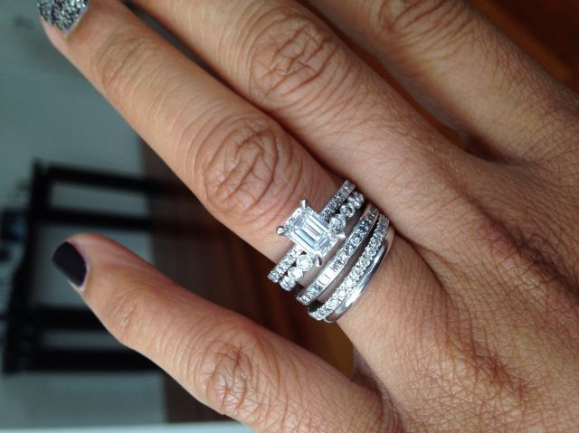 Show Me Stacked Wedding Rings The Bling Earrings Jewelry Diamond Forum Compare Prices Discussions
