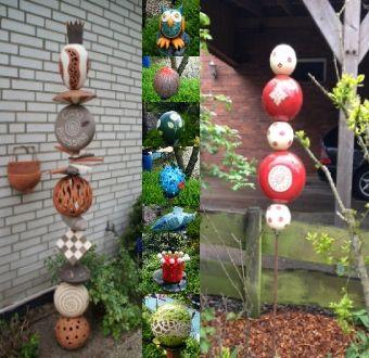 Keramik ideen f r den garten in den oster und herbstferien ge ffnet keramik stele - Topfern ideen fur haus und garten ...
