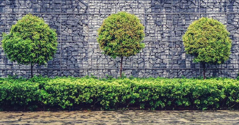 Muros de gaviones de piedra para jardines Somos Piedra Pinterest