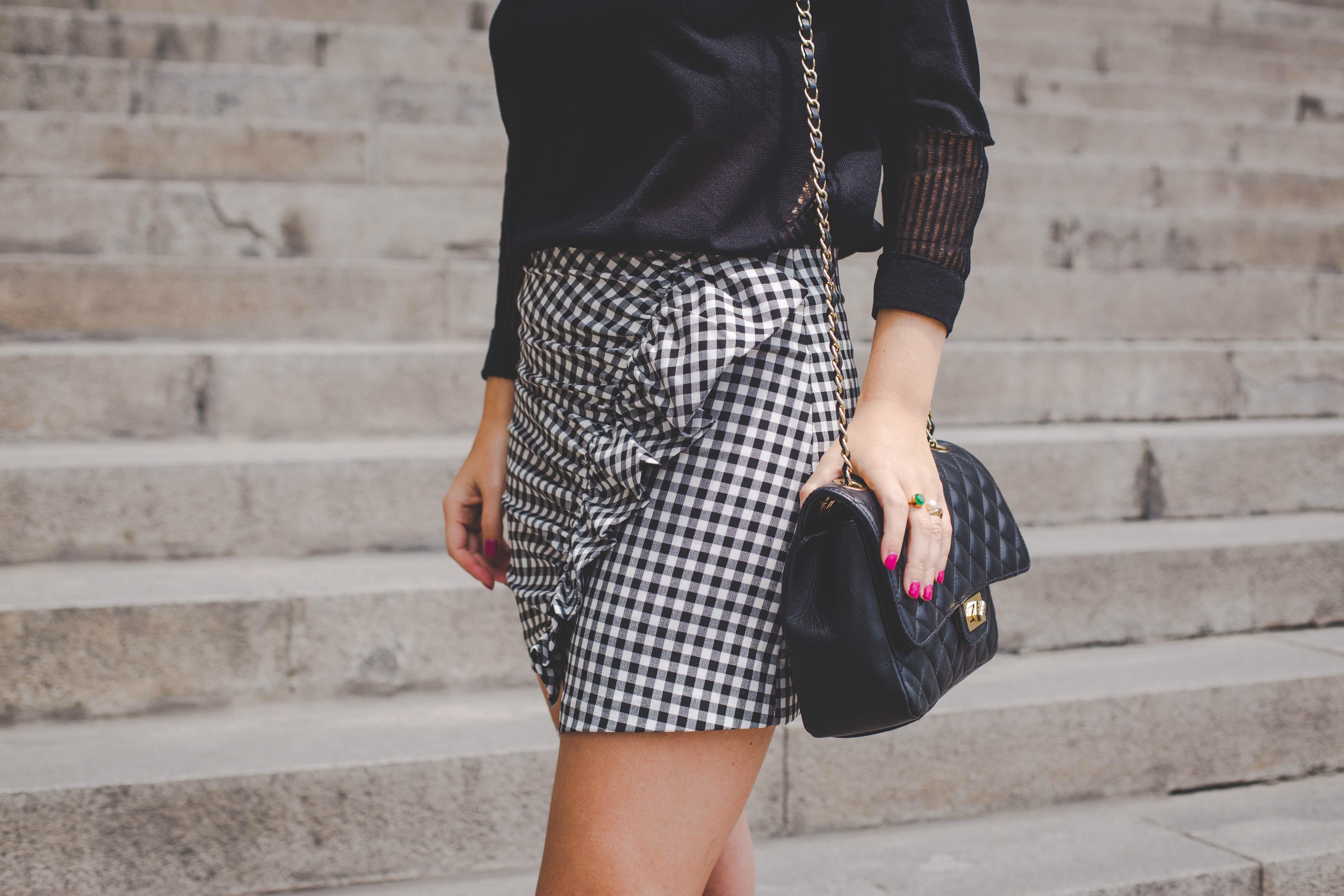 Outfit Y Pinterest Outfits Zara Vichy Falda Cuadros Moda 6qPwBtHfx