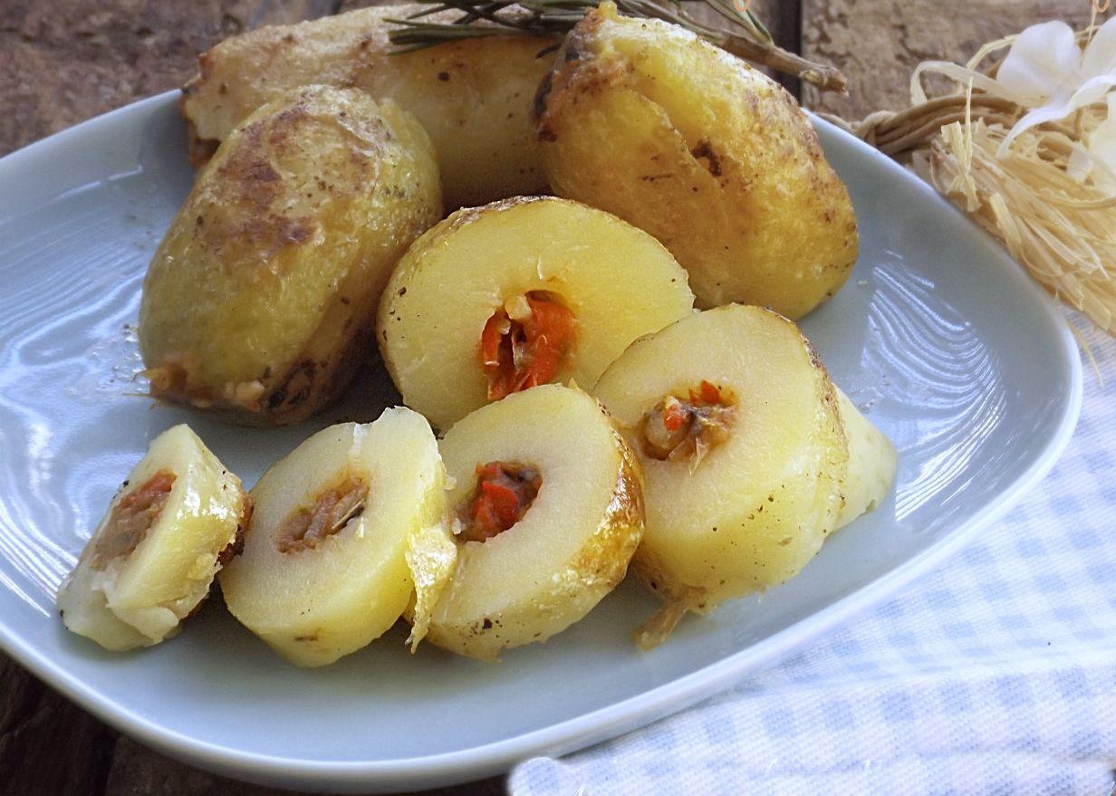 Rondelle di patate con tonno e peperoni