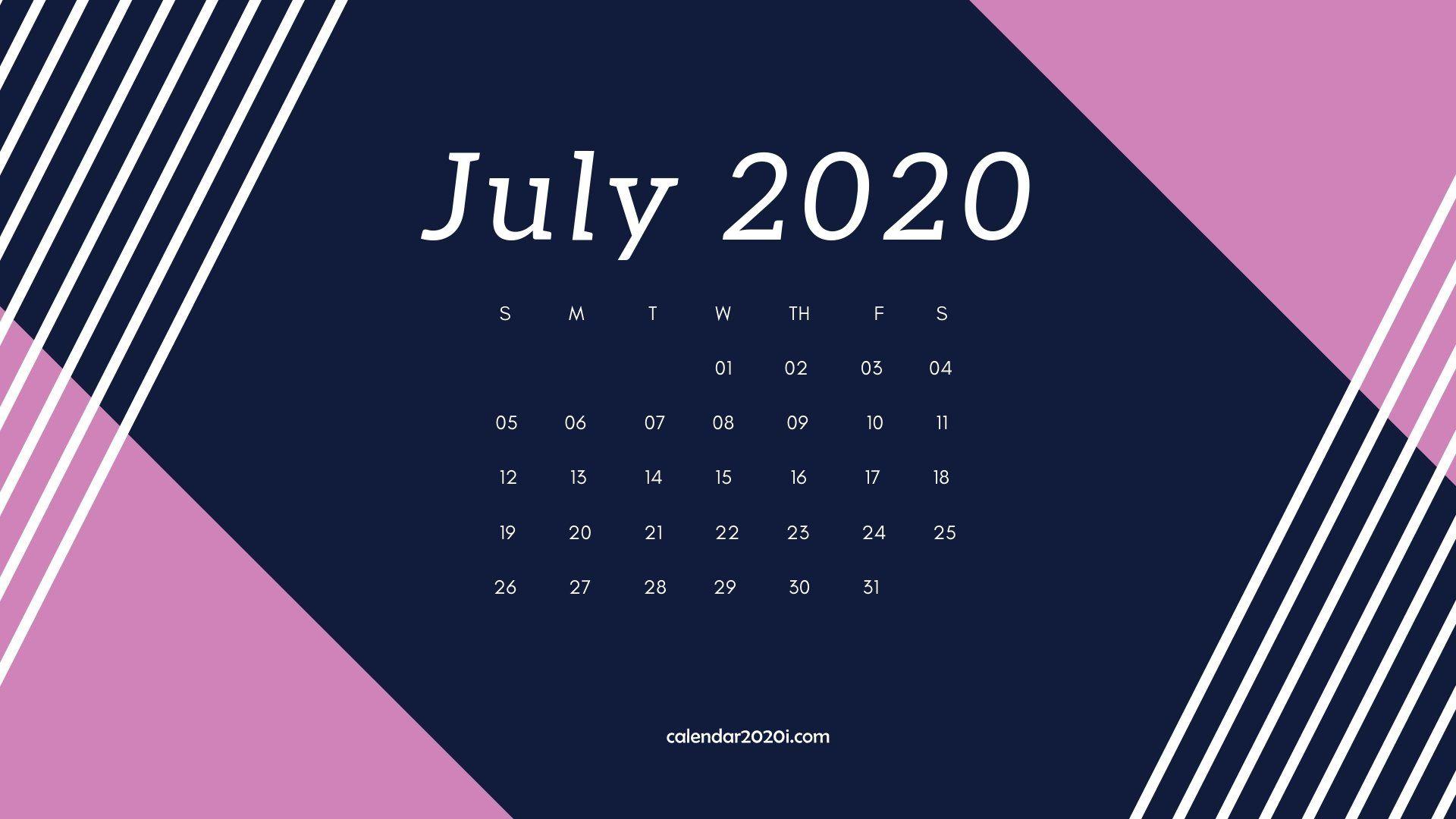December 2020 Calendardesktop July 2020 Calendar Desktop Wallpaper | 2020 Calendars | Calendar