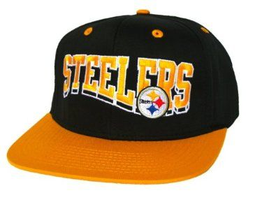 c313111c2ee PITTSBURGH STEELERS Script Wave Retro Snapback Hat - NFL Cap - 2 Tone Black  Gold- Worn by Wiz Khalifa  Amazon.co.uk  Amazon.co.uk