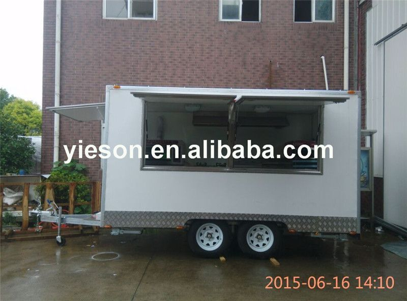 New Model Ys Fb390 Mobile Food Trucks Mini Fibreglass Caravan Food