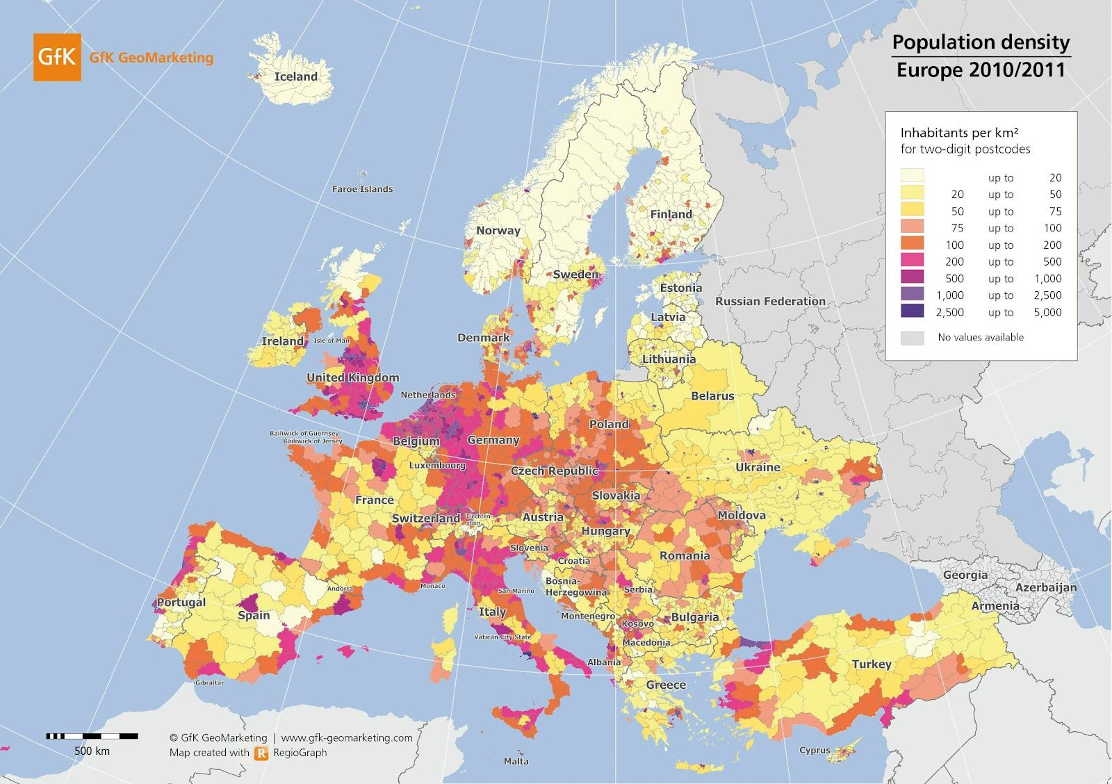 Population Density In Europe X Post R Europe With