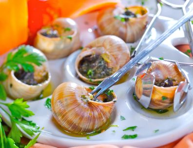 Escargot-yes I've eaten snail, at a restaurant called Le Riviage in NYC