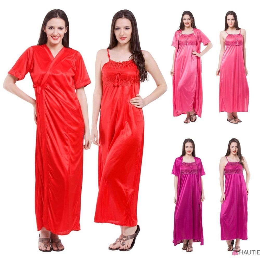 SEXY SATIN LONG CHEMISE NIGHT DRESS NIGHTDRESS NIGHTIE SLIP ROBE GOWN in  Clothes a8f9c8ed7