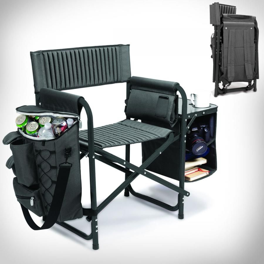 Folding Chair Backpack Folding Backpack Chair With Cooler And Side Table Cool Stuff
