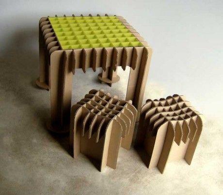 Mobiliario de cartón: alternativa económica y resistente | Xombit