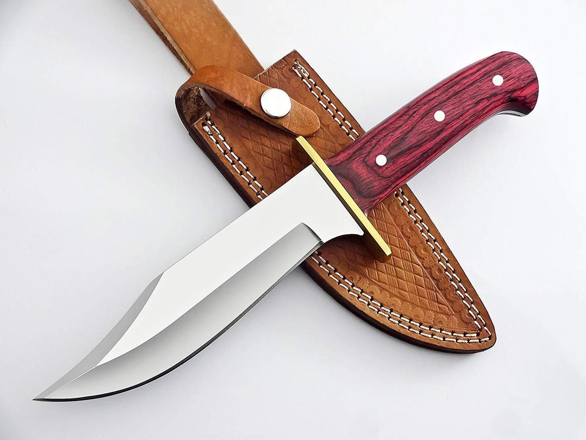D2 Steel Bowie Knife With Stunning Unique Dollar Sheet Handle With Brass Guard D2 Steel With Great Piece Of Art Stunning Roc With Images Bowie Knife D2 Steel Knife Making