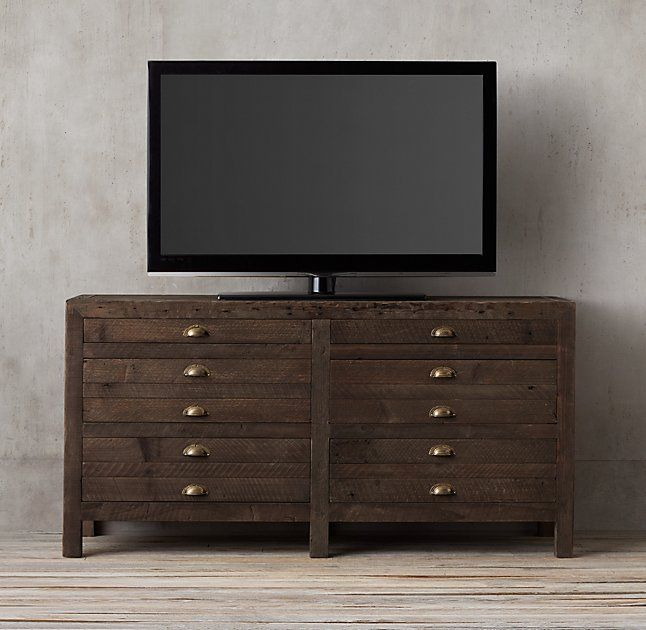 "Printmaker's 55"" Media Console. For Office"