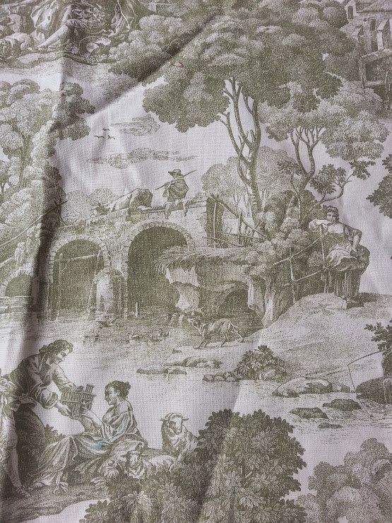 Sage Green Toile Fabric | GR2Design on Etsy