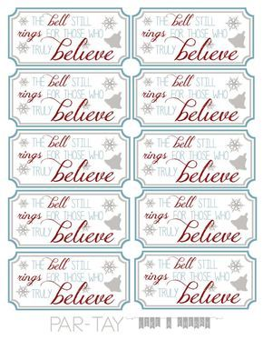 Polar Express Bell Tags - Party Like a Cherry