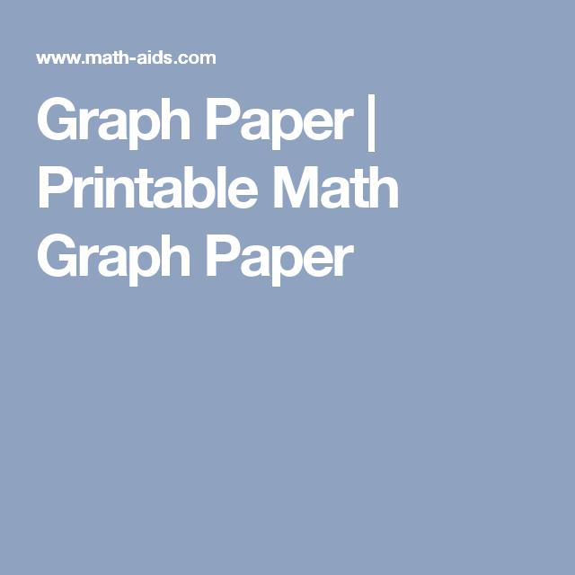 Graph Paper | Printable Math Graph Paper | Maths | Pinterest | Graph ...