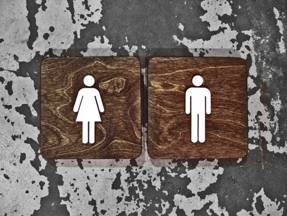 Modern Office Restroom Signs   WC Signage   6  x 6  or 9. Office Unisex Restroom Bathroom Sign   WC Signage   6  or 9  Size