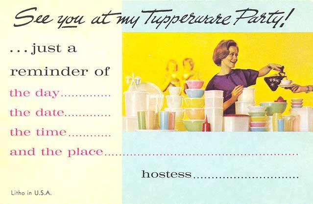 1960 tupperware Google Search – Tupperware Party Invitation