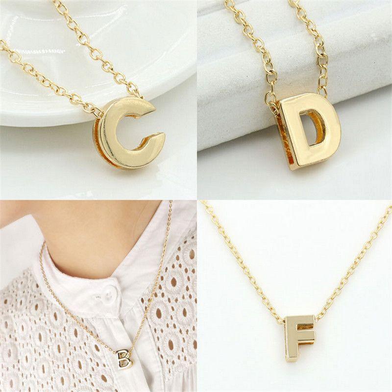 2016 Fashion New cheap plate Women Alphabet 26 Letters A-Z Pendant Necklace  Couple Freindship Unisex Clavicle Chain eb790f32105
