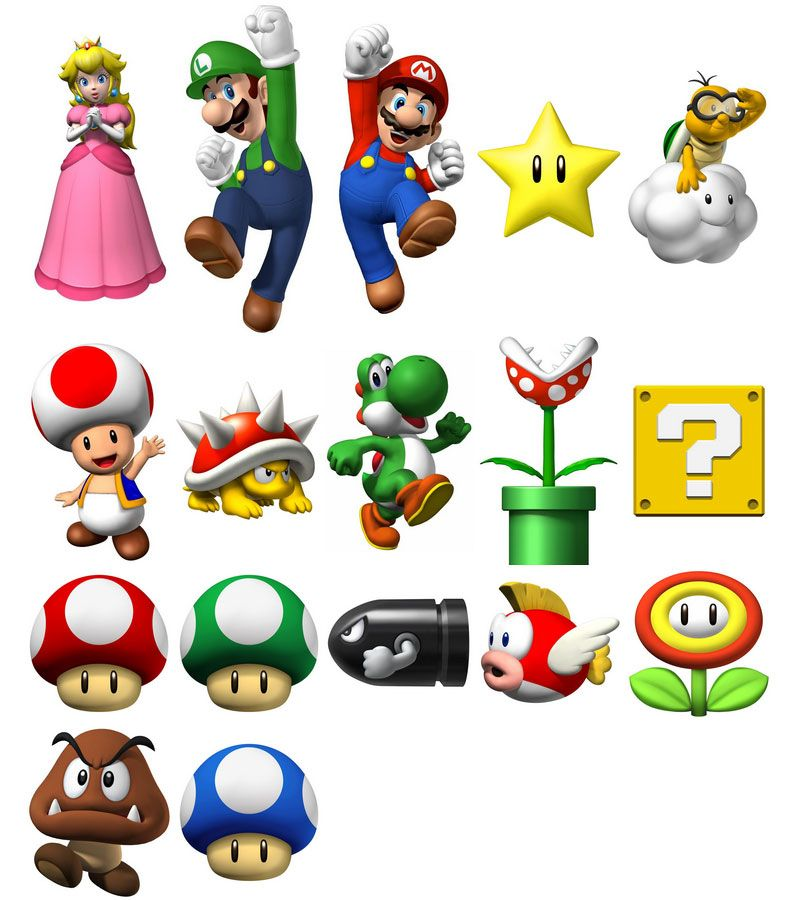 Super Mario Bros Clip Art