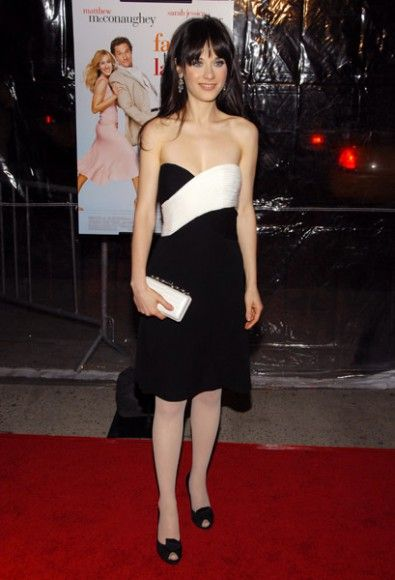 Black And White Dress Failure To Launch Premiere Zooey Deschanel Style Black N White Dress Dresses