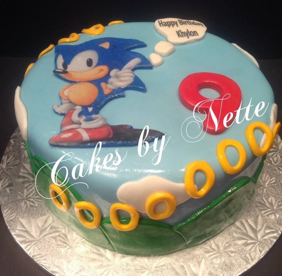 Sonic Hedgehog Cake Cakes By Nette St LouisMO Boy Cakes