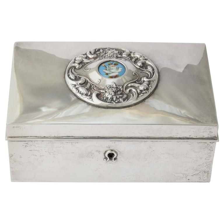 Amercan 19th Century Silver Love Letter Box 1