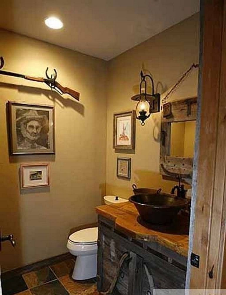 23 Awesome Western Bathroom Decorating Ideas With Rustic Style Bathroom Bathroomideas Bathroomdecor Western Bathroom Decor Western Bathrooms Bathroom Decor