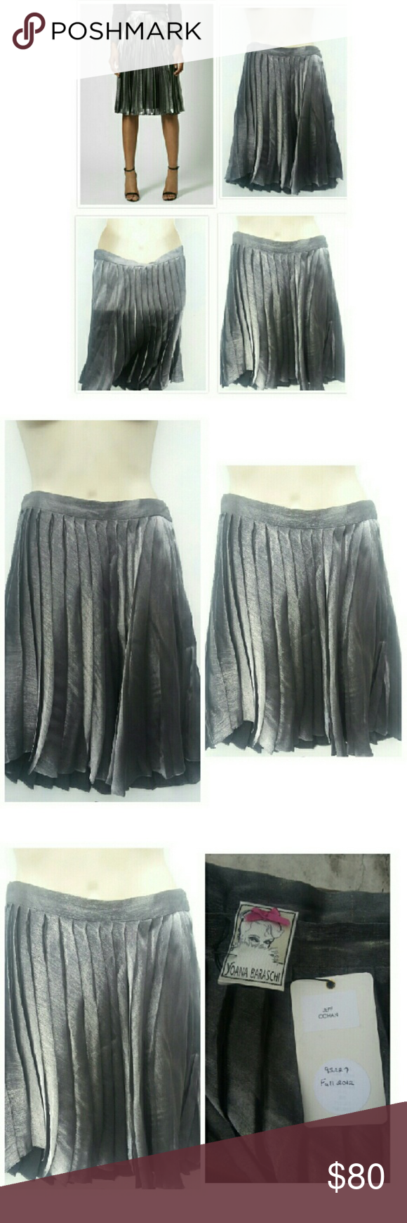7008c17e47 ANTHRO WAVE METALLIC PLEATED SKIRT SZ S Yoana Baraschi brought at  ANTHROPOLOGIE NYC Gorgeous grey metallic pleated skirt size small 25% off  Bundles of 2 ...