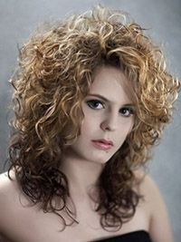Bildergebnis fr dauerwelle lange haare afro  Rotes Haar  Dauerwellen lange haare Dauerwelle