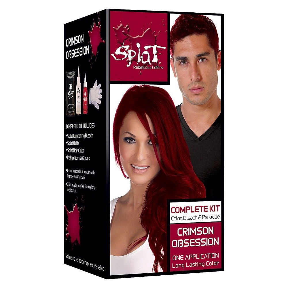 Splat Hair Color Bleach Kit Lightening Bleach 6 5 Fl Oz 1 Kit Splat Hair Dye Splat Hair Color Semi Permanent Hair Color