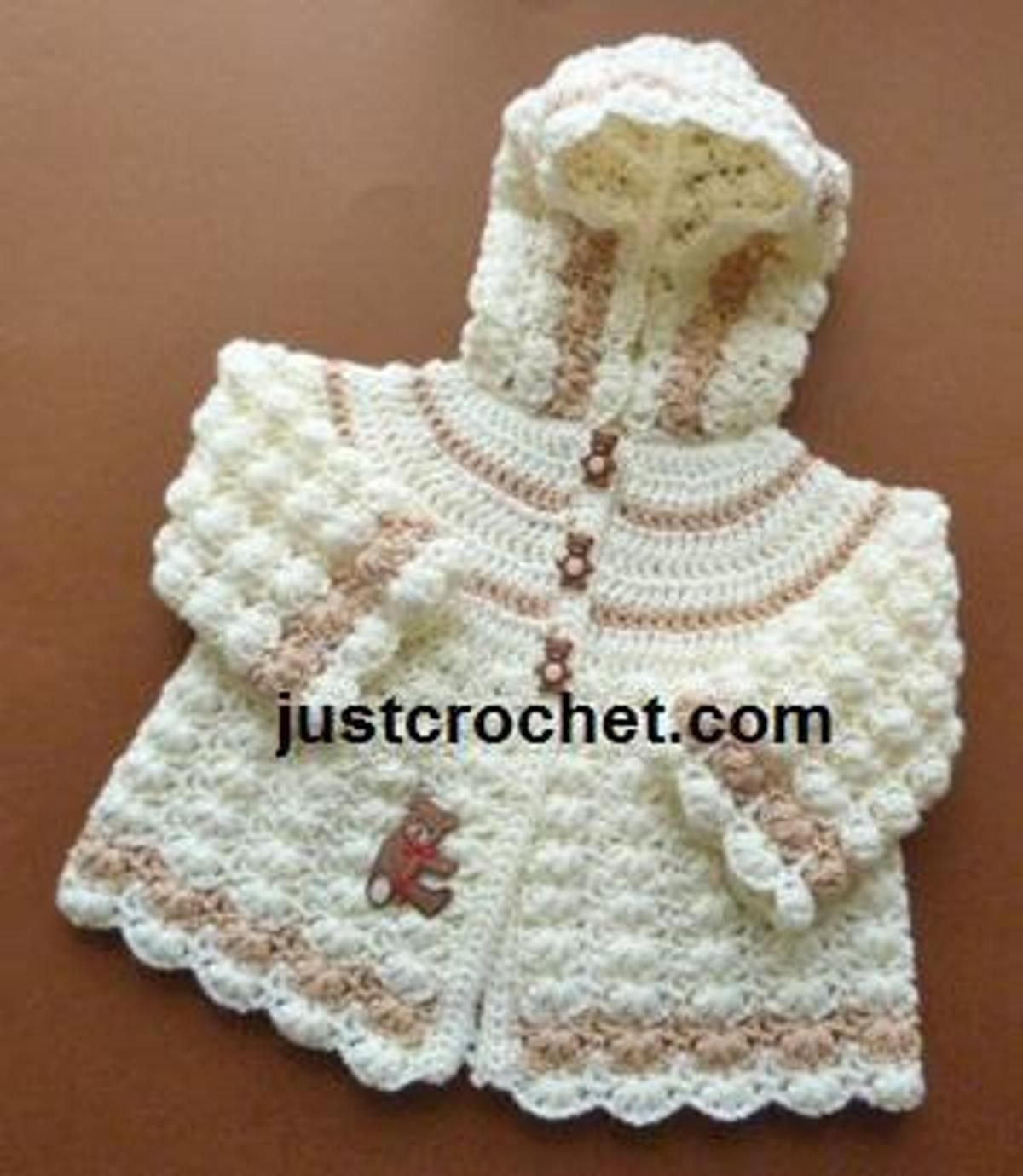FJC99-Hooded Jacket baby crochet pattern | Craftsy | Projects to Try ...