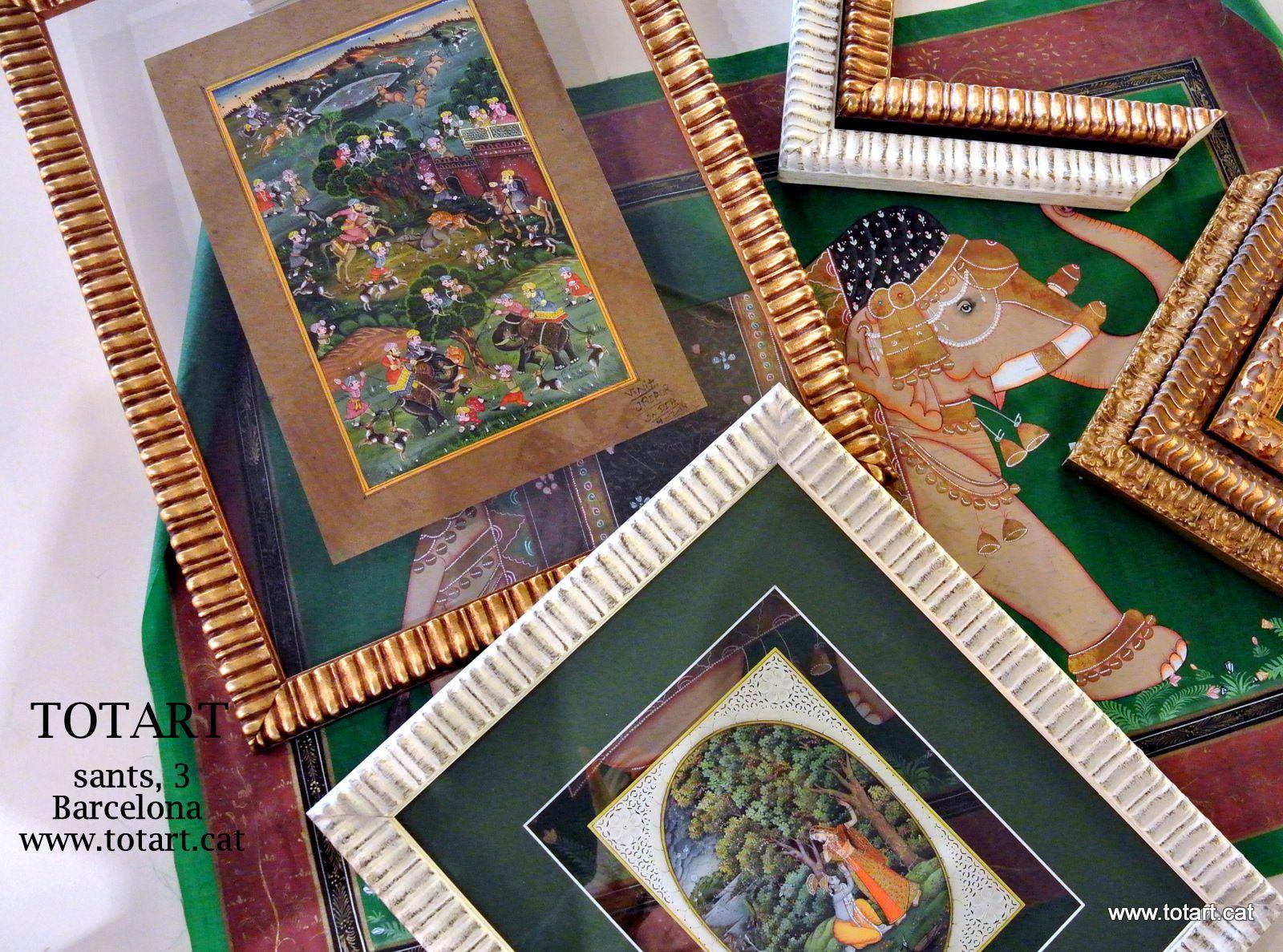marcos para cuadros doble cristal para pintura india y papiros ...