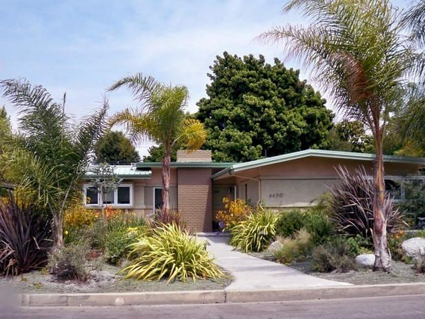 Mid Century Modern Homes Landscaping a few too many things for my liking, but the idea is good and the