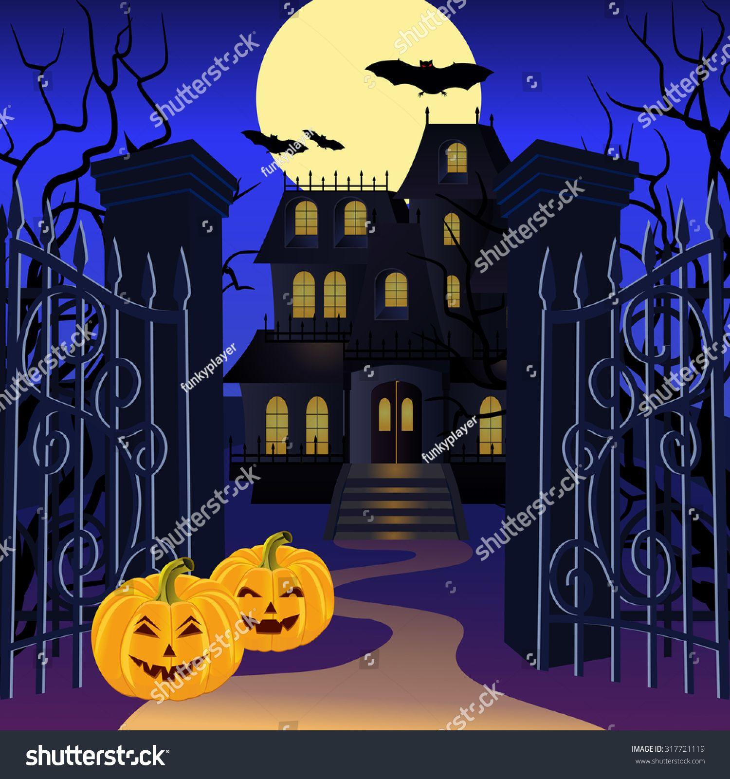 animatedhauntedhouse3.gif 408×386 pixels Halloween