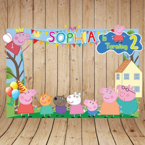 Peppa Pig Photo Booth Frame, Peppa Pig Photo Booth Frame, Peppa Pig Photo Frame, Peppa Pig Birthday Frame, Peppa Pig Backdrop, Peppa Pig