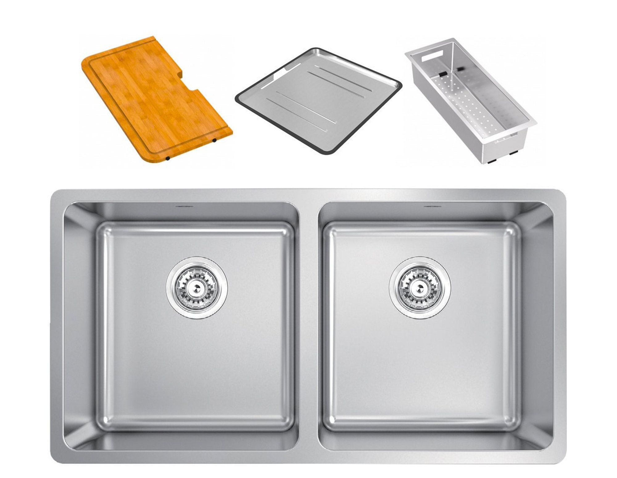 Abey Lg200pk Lago Inset Double Bowl Sink Pack Double Bowl Sink
