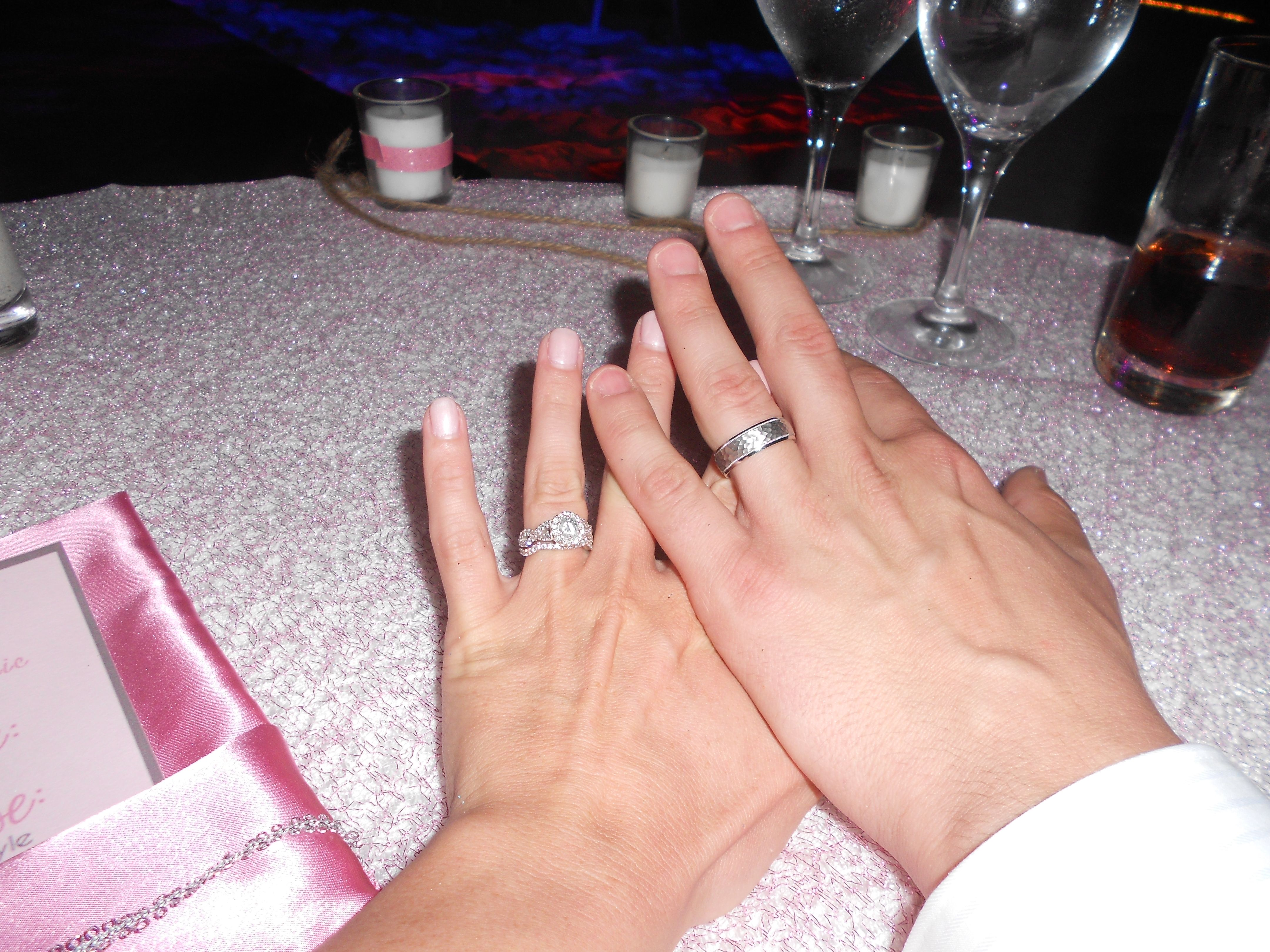 Our rings at our wedding - Symbols of love