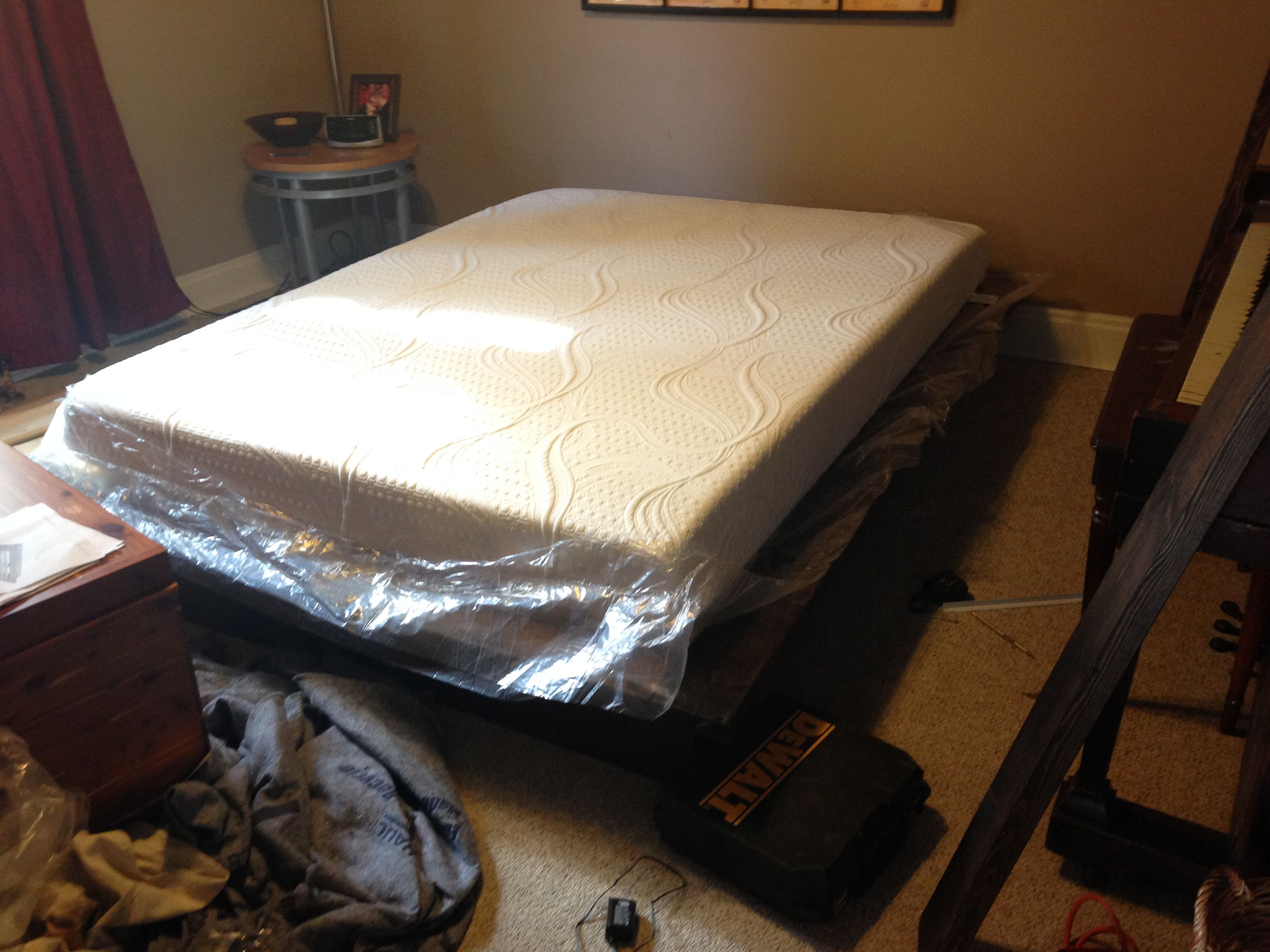 Memory Foam Mattress No Box Spring Diy Platform Bed