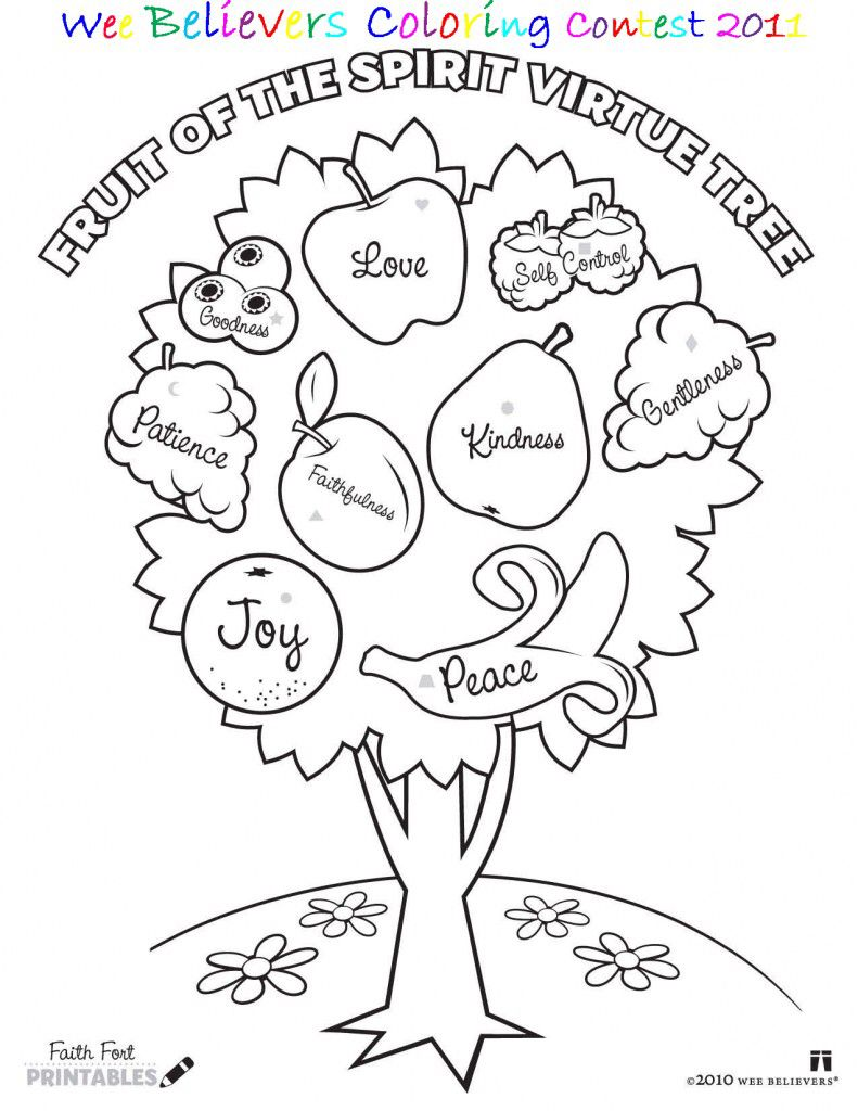 Fruits Of The Spirit Coloring Page Sunday School Coloring Pages
