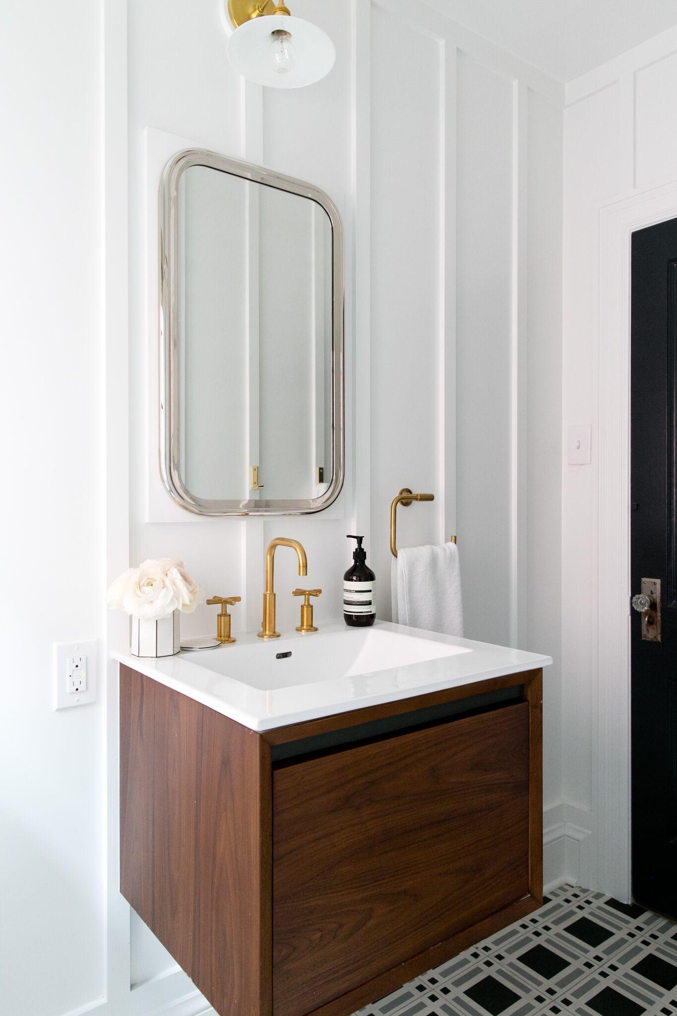 Denver Tudor Reveal | Floating vanity, Studio mcgee and Vanities