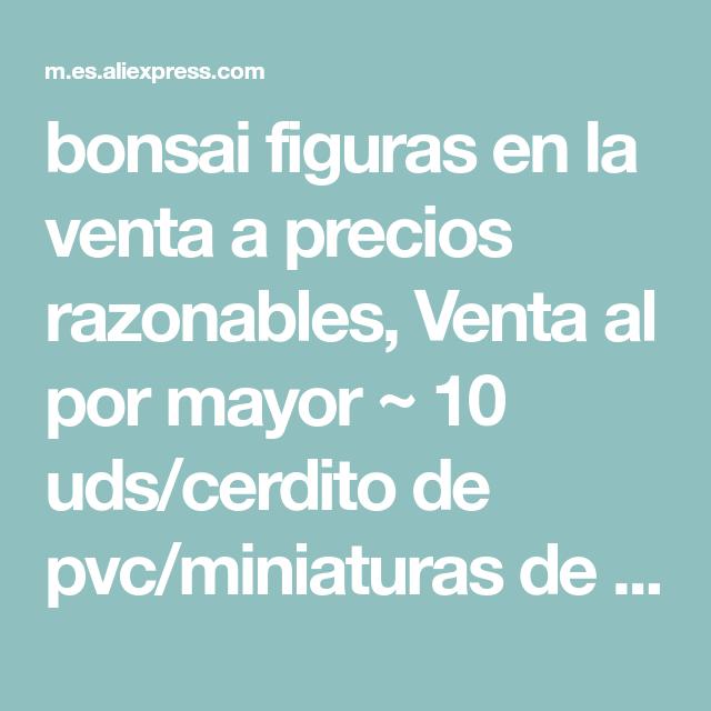 Bonsai Figuras En La Venta A Precios Razonables Venta Al Por Mayor 10 Uds Cerdito De Pvc Miniaturas De Fantasía A Gnomos De Jardín Venta Al Por Mayor Bonsai