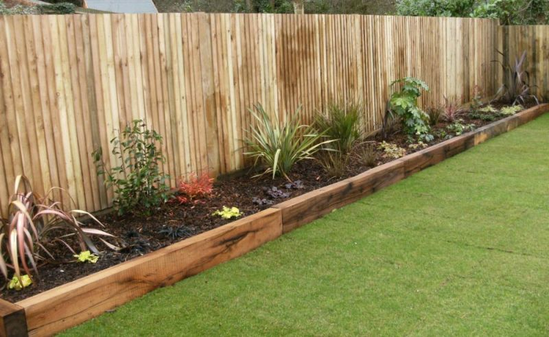 Fence Raised Beds With Images Garden Design Flower Beds